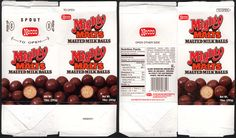 Necco - Mighty Malts malted milk balls - carton c… Old Candy, Malted Milk, Candy Boxes, Different Textures, Household Items, Balls, Nutrition, Food, Projects