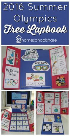 Are you excited about the upcoming Olympics? Teach your child all about them with this FREE 2016 Summer Olympics Lapbook.   This lapbook includ