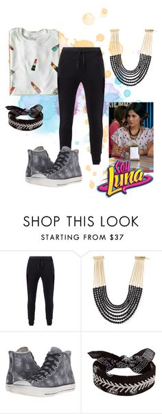 """soy luna"" by maria-look on Polyvore featuring MANGO, Rosantica, Converse and Fallon"