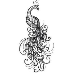 Image result for peacock tattoo black and white