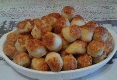 Nagymama sajtos pogácsája Cooking Bread, Savory Pastry, Pretzel Bites, Potatoes, Snacks, Vegetables, Food, Pastries, Diet