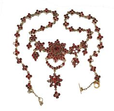 Antique Victorian Bohemian Garnet Necklace
