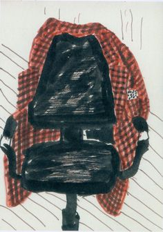"david hockney ""sketchbook page: jacket on chair"" 2002"