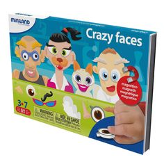 Miniland on the go magnetishc taal spel: crazy faces Wtf Face, Puzzle Toys, Going Crazy, To Go, Family Guy, Crazy Faces, Character, Magnets, Products