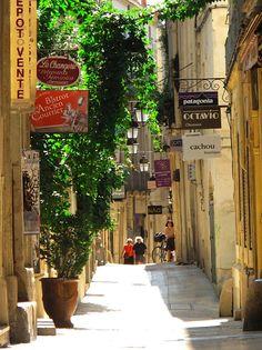 Caminos que habrá recorrido el Pibe Valderrama durante su permanencia en Francia.   Montpellier en el verano, por Christine Cantera.