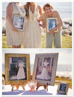 I adore everything about this photo, wish I had done this at my wedding.  Such a great idea for a family shot with Mom and Grandma. Boho Chic Beach Wedding by I Heart My Groom on BorrowedandBleu.com