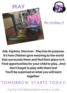 Flyer on Play for parents. Early Childhood, Meant To Be, Kindergarten, Parents, Journey, Play, Learning, Children, Dads