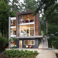 rumah rumah minimalis: South Korea modern homes designs exterior views.