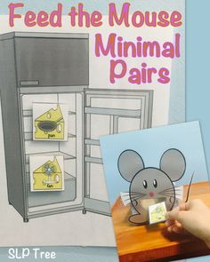 Children love feeding animals so why not have them practice auditory discrimination of minimal pairs and/or reduction of phonological processes while doing it!