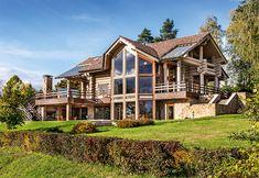 Бревенчатый дом на берегу озера | Дома из оцилиндрованного бревна | Журнал «Деревянные дома»