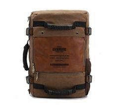 Retro Men's Backpack Shoulder Bag Computer Bag Multi-function Bag Travel Bags Duffel Canvas Bag
