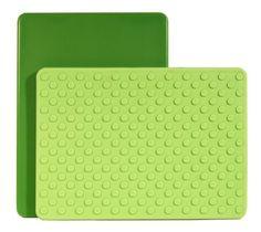 Architec The Gripper Cutting Board, 8 by 11-Inch, Green/Light Green