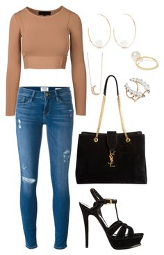 """""""Untitled #1606"""" by cecilia-rebecca-stagrum-buch on Polyvore featuring Yves Saint Laurent, Frame, mizuki, Sophie Bille Brahe, Annoushka and Andrea Fohrman"""