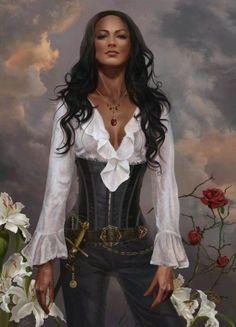 Madelein importante mujer que dirige el puerto pirata de dunkerque, amiga de Roselin llego a conocer al padre de esta ultima. Actualmente intentando abrirse camino en el nuevo mundo