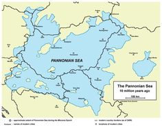 The Pannonian Sea was a shallow ancient sea located where the Pannonian Plain in Central Europe is now. The Pannonian Sea existed during the Miocene and Pliocene epochs, when a three to four kilometre depth of marine sediments were deposited in the Pannonian Basin