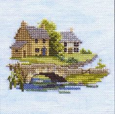 Derwentwater Designs Minuets Counte c d Cross Stitch Kit Brookside Cross Stitch House, Small Cross Stitch, Cute Cross Stitch, Counted Cross Stitch Kits, Cross Stitch Designs, Cross Stitch Embroidery, Embroidery Patterns, Cross Stitch Patterns, Cross Stitches