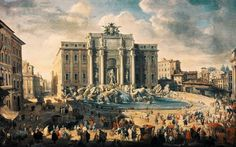 Papa Benedetto XIV. Visitato la Fontana di Trevi a Roma  daGiovanni Paolo Pannin
