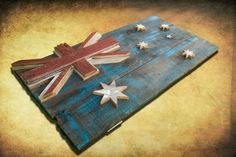 This 3D, one of a kind, weathered old barn wood, hand painted, distressed Australian flag wall hanging art is the perfect addition to any room!    ***!!!SHIPPING IS INCLUDED FOR THIS ITEM!!!! ***    I will be limiting this piece to only 100 total flags. Comes with everything needed to hang on the wall.  The first one sold is the one you see in the photos unless you would like another size.    The colors and distressed look truly fit both modern and rustic decor!    Please contact me with the…