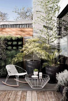 Black, White and Wood All Over – Greige Design #outdoorfurniture