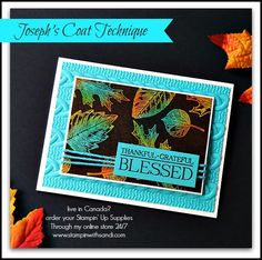 Joseph's Coat Technique with Vintage Leaves from STampin Up, card by Sandi @ www.stampinwithsandi.com