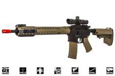 Black Rain Ordnance Fallout 15 Force Battle Rifle AEG Airsoft Gun by King Arms ( Black /  Dark Earth )