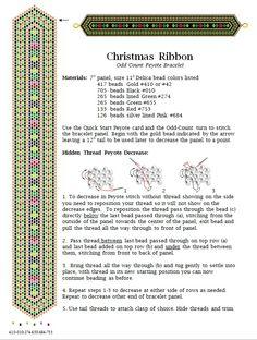Christmas Ribbon Bracelet by Deb Moffett-Hall