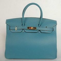 Hermes Birkin Blue Gold