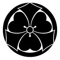 Japanese family crest, called mon or kamon.