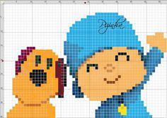 Pocoyo X-stitch grid Cross Stitch For Kids, Cross Stitch Baby, Cross Stitch Patterns, Pixel Crochet Blanket, Tapestry Crochet, Cartoon Network, Dog Chart, Lego Mosaic, Iron Beads