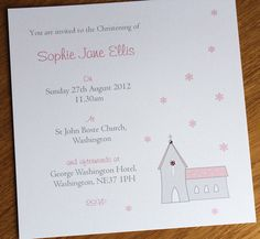 christening invitations Christening Invitations, Wedding Invitations, Dyi Crafts, Paper Crafts, Baby Girl Christening, Godchild, You Are Invited, Baby Cards, Projects To Try