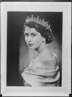 Queen Elizabeth II wearing Royal Crown jewels