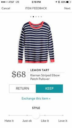 Lemon Tart Kiernan striped elbow patch pullover