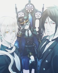 Snake, Ciel, and Sebastian - Black Butler - Kuroshitsuji
