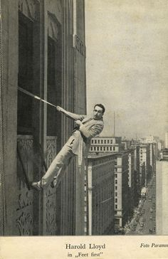 Harold Lloyd in  Feet First, Unknown series, c. 1930.