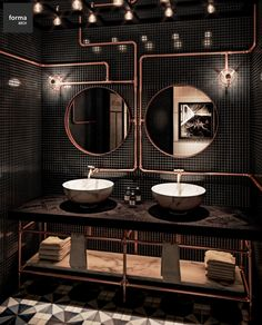 Bathroom interior design 18436679711934076 - Bathroom Inspiration : Forma ARCHThe Definitive Source for Interior Designers Source by Restaurant Bad, Restaurant Bathroom, Rustic Restaurant, Washroom Design, Bathroom Interior Design, Bad Inspiration, Bathroom Inspiration, Industrial Bathroom, Modern Bathroom