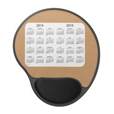 Tan and White 2 Year Calendar Gel Mouse Pad Design from Calendars by Janz