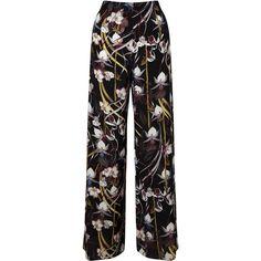 Miss Selfridge Tropical Wide Leg ($43) ❤ liked on Polyvore featuring pants, women, miss selfridge, tropical print pants, rayon pants, wide leg trousers and viscose pants