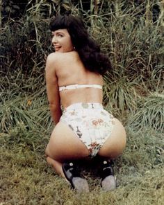 "Vintage Erotic Art Nude c1950's Naked Bettie Page Pin Up Photograph  7"" x 5"""