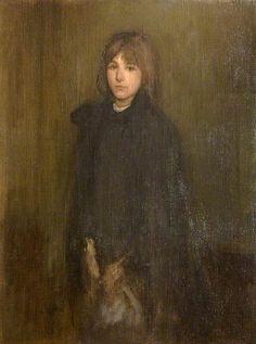 """""""The Boy In a Cloak"""", James Abbott McNeill Whistler."""