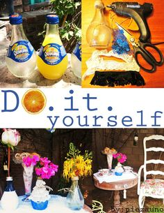 USE YOUR ORANGINA BOTTLES FOR THIS EASY DIY!