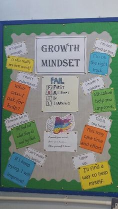 Growth Mindset Classroom Display--use arrows to connect them Class Displays, Classroom Displays, Classroom Organization, Classroom Management, Growth Mindset Classroom, Growth Mindset Posters, Science Display, Science Classroom, Ela Classroom