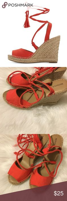 Host picks  Merona lace up sandals wedges Shoes Wedges