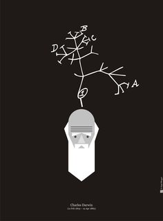 Darwin Day art by Kapil Bhaghat (Tumblr)