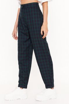 Stop Checking Up on Me Tartan Trousers Casual Outfits, Cute Outfits, Fashion Outfits, Indie Outfits, Retro Outfits, Tartan Pants, Checked Trousers, Aesthetic Clothes, Aesthetic Fashion