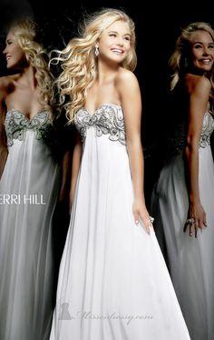 Sherri Hill 3903 by Sherri Hill, Empire Waist Gown, Boho Chic Wedding Dress