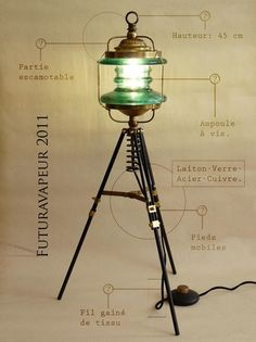 Steampunk Lamp from upcycled items