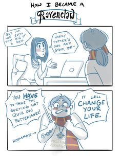 """Admit it, we're all the """"Harry Potter obsessed friend"""" in the HPA ... click to see the entire comic // art by Johhannamation on tumblr"""