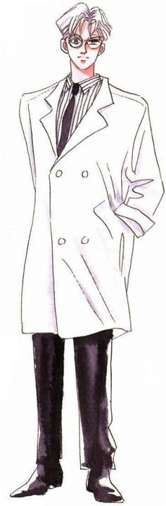 Name: Doctor Tomoe   Doctor Tomoe was Hotaru's (Sailor Saturn) father before his body was taken over by evil forces, and he was looking for the heart crystals to revive Mistress 9.