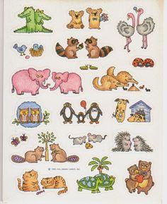 CUTE HALLOWEN ANIMALS  SAYINGS 1 Sheet Vintage American Greetings Sticker