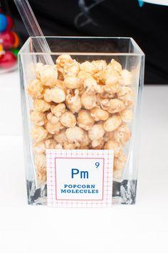 Popcorn Moleküle - Creative Essensideen für Kindergeburtstag Forscherparty